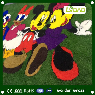Customization Logo Lawn with Waterproof Comfortable Environmental Friendly Fake Yarn Decorational Mat Artificial Grass