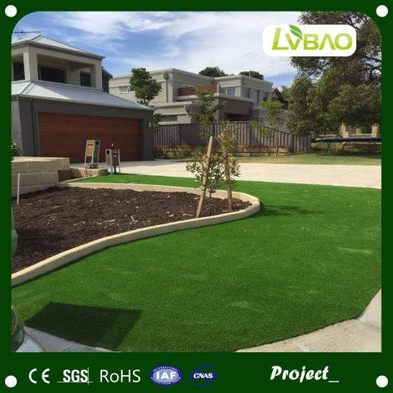 4-Tones Synthetic Turf Durable UV-Resistance Commercial Strong Yarn School Comfortable Fake Artificial Turf